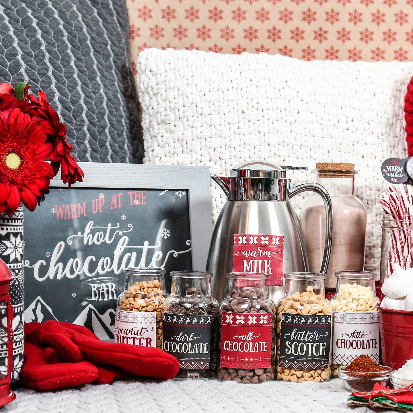 Hot Chocolate Bar Holiday Printables
