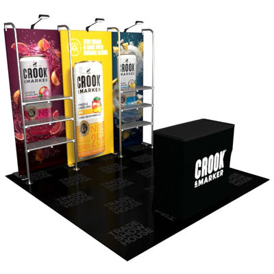 10ft Merchandise Display Kit with 6 Shelves - Merchandise Displays