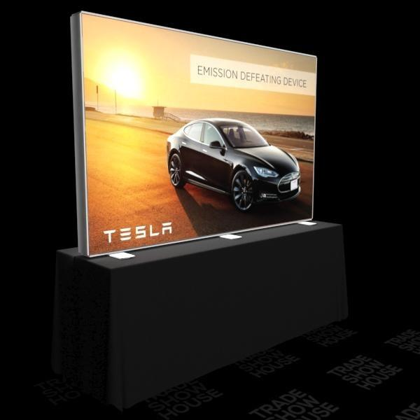 8ft x 5ft Double Sided Tabletop Backlit Push-Fit SEG Display