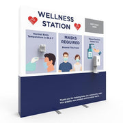 8ft x 8ft Wellness Station Pop Up Sanitizer and Temperature Check Display