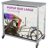 Portable Pop Up Bar - Large - Counters