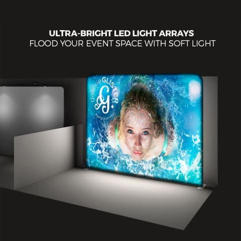 10Ft X 8Ft Backlit Tension Fabric Display Podium Kit