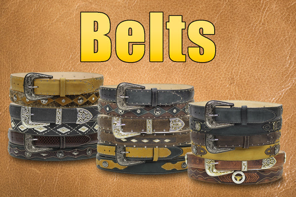 belts leather western rodeo cowboy