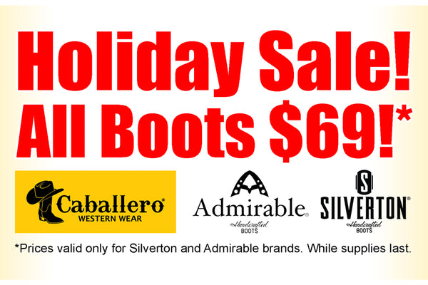 holiday sale boots 69 caballero admirable silverton