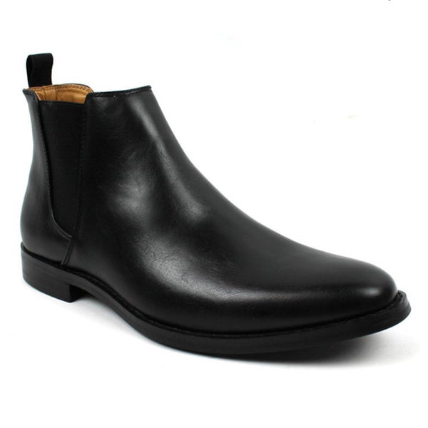 Bonafini Men's Classic Chelsea Boot Dress Shoe Black B-1851