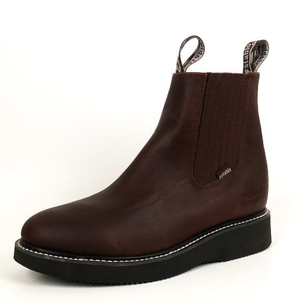 Men's Establo Work Ankle Boot Wine 551