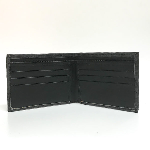 Admirable All Leather Alligator Print Wallet (Grey)