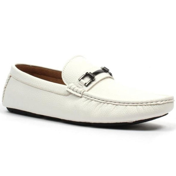 Jaxson Men's Loafer Dress Shoe White