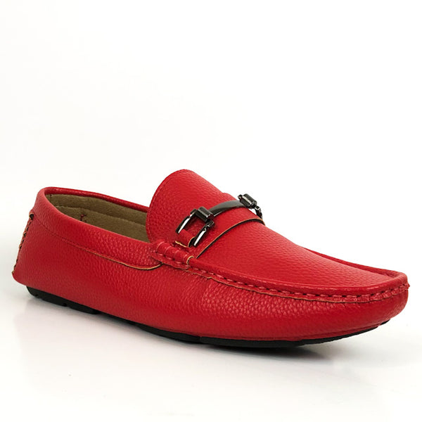 Jaxson Men's Loafer Dress Shoe Red