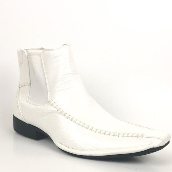 Bonafini Men's Fashion Ankle Boot Shoe White D-619