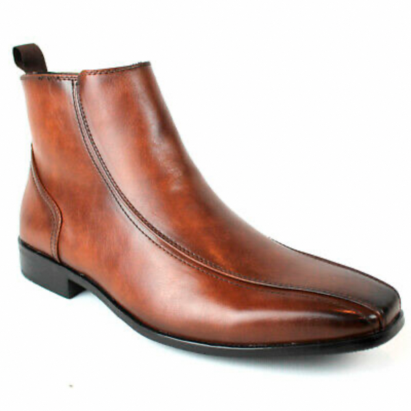 Bonafini Men's Fashion Boot Dress Shoe Cognac D-625