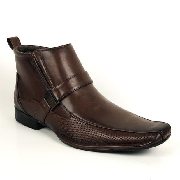 Bonafini Men's Fashion Ankle Boot Shoe Brown D-624