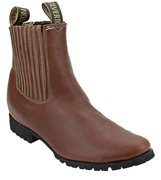 Silverton® All Leather Ankle Boots (Shedron/Tractor Sole)
