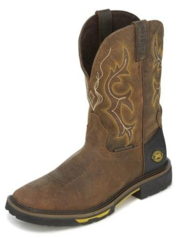 Justin Hybred™ Work Boots WK4624 (Rustic Barnwood)