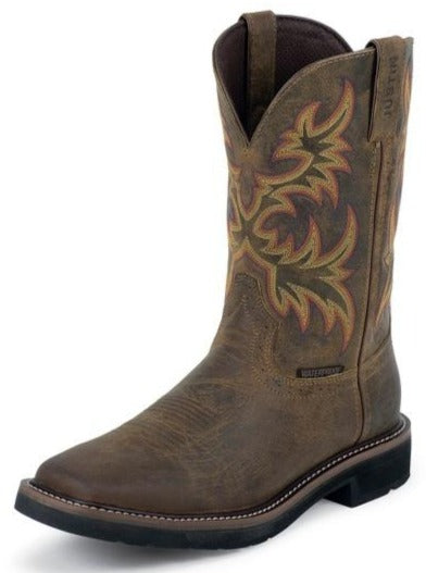 Justin Stampede™ Work Boots WK4689 (Rugged Tan)
