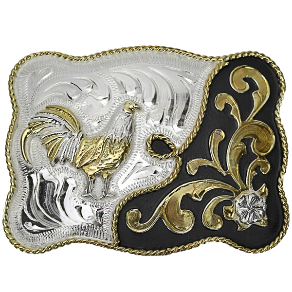 Belt Buckle Rectangle Rooster