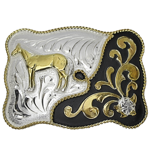 Belt Buckle Rectangle Horse
