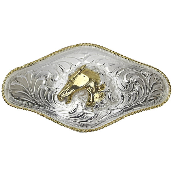 Belt Buckle Long Horse Head