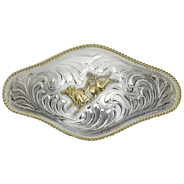 Belt Buckle Long Bull Rider