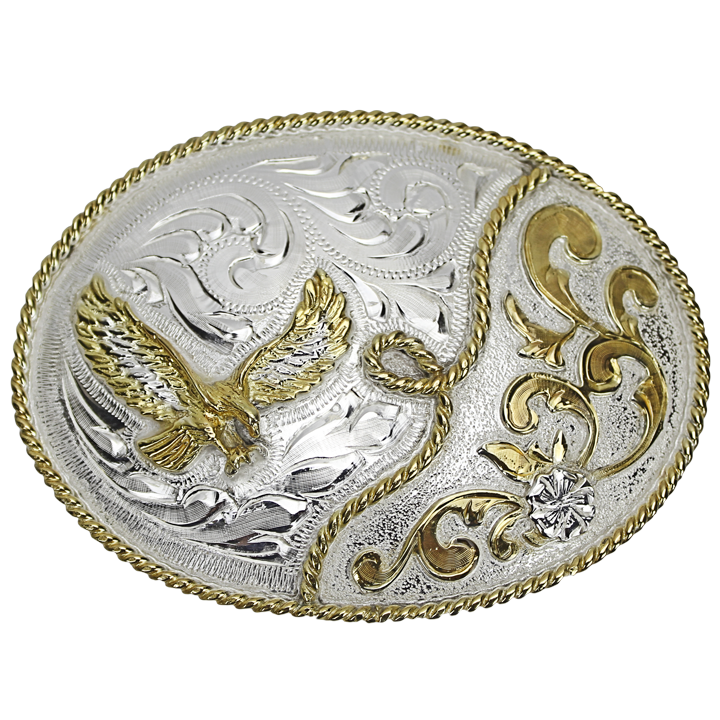 Belt Buckle Oval Eagle