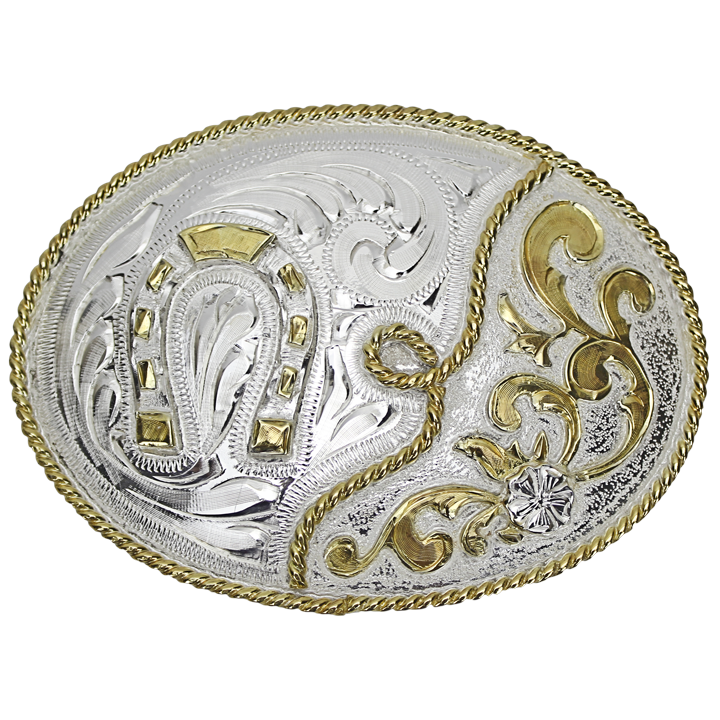 Belt Buckle Oval Horseshoe