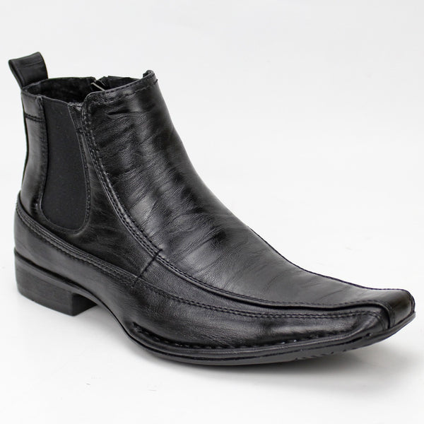 Bonafini Men's Fashion Ankle Boot Shoe Black D-620