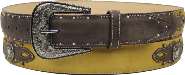 Silverton® Cowboy Leather Belt (Chocolate/Honey)