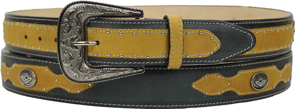 Silverton® Cowboy Leather Belt (Honey/Black)
