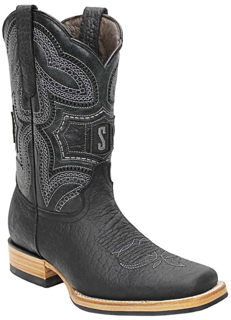 Silverton® Dakota All Leather Square-Toe Boots (Black)