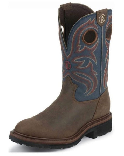 Tony Lama Work Boot Snyder Blue RR3208