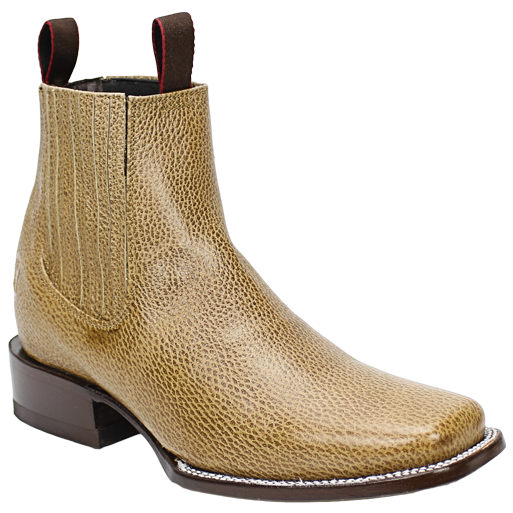 Silverton® Grizzly All Leather Square-Toe Ankle Boots (Tan)