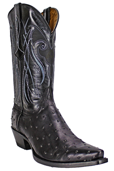 Admirable® Boots Ostrich Sniptoe (Black)