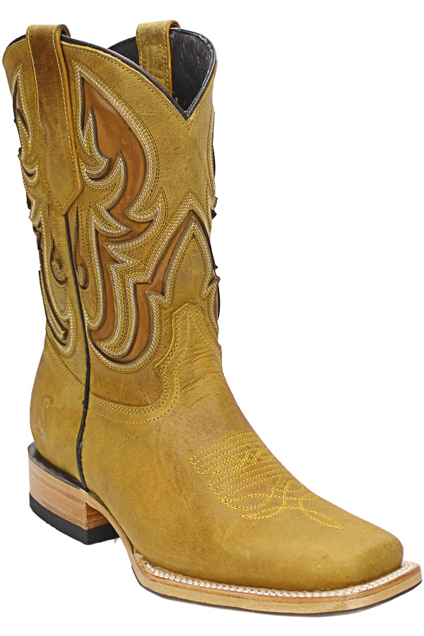 Silverton® Ranch All Leather Square-Toe Boots (Honey)