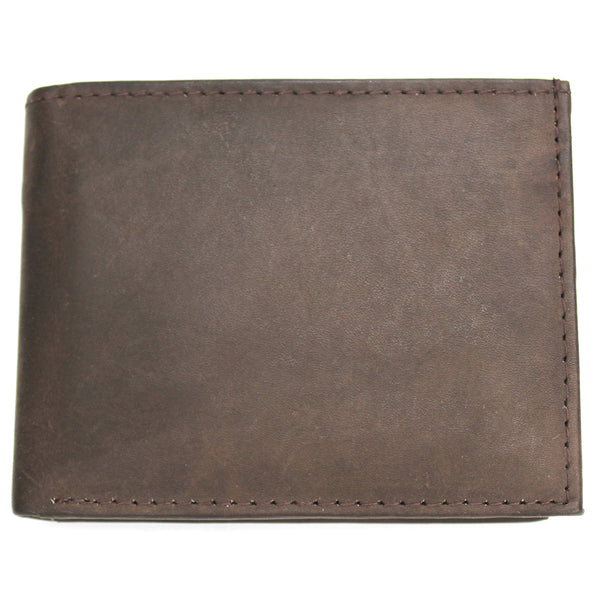 All Leather Bi-Fold Wallet (Brown)
