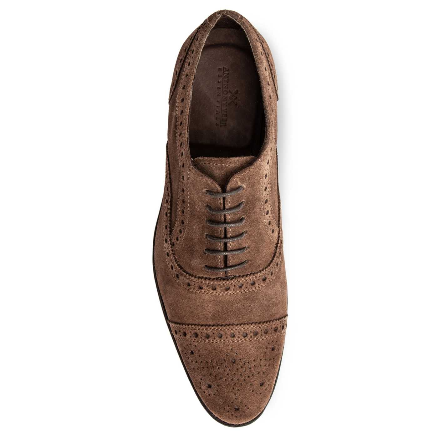 Ford Quarter Brogue Oxford Suede