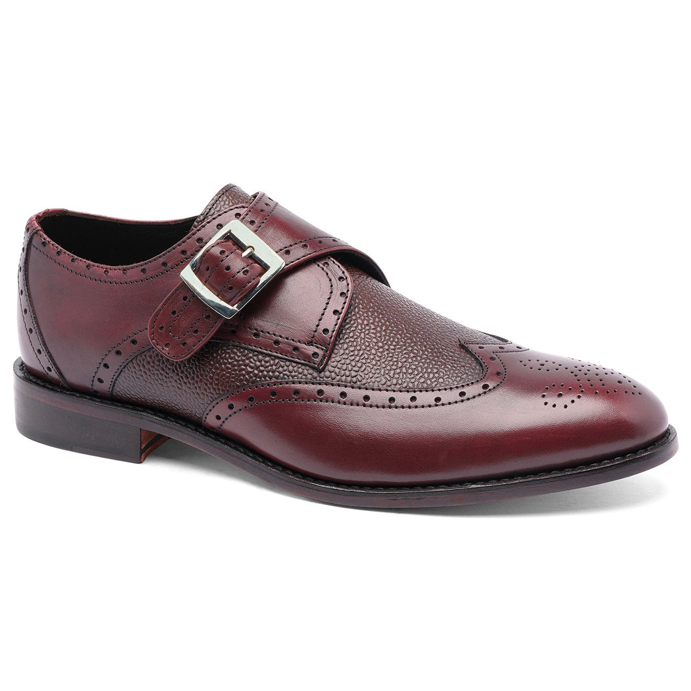 Roosevelt III Wingtip Single Monk Strap