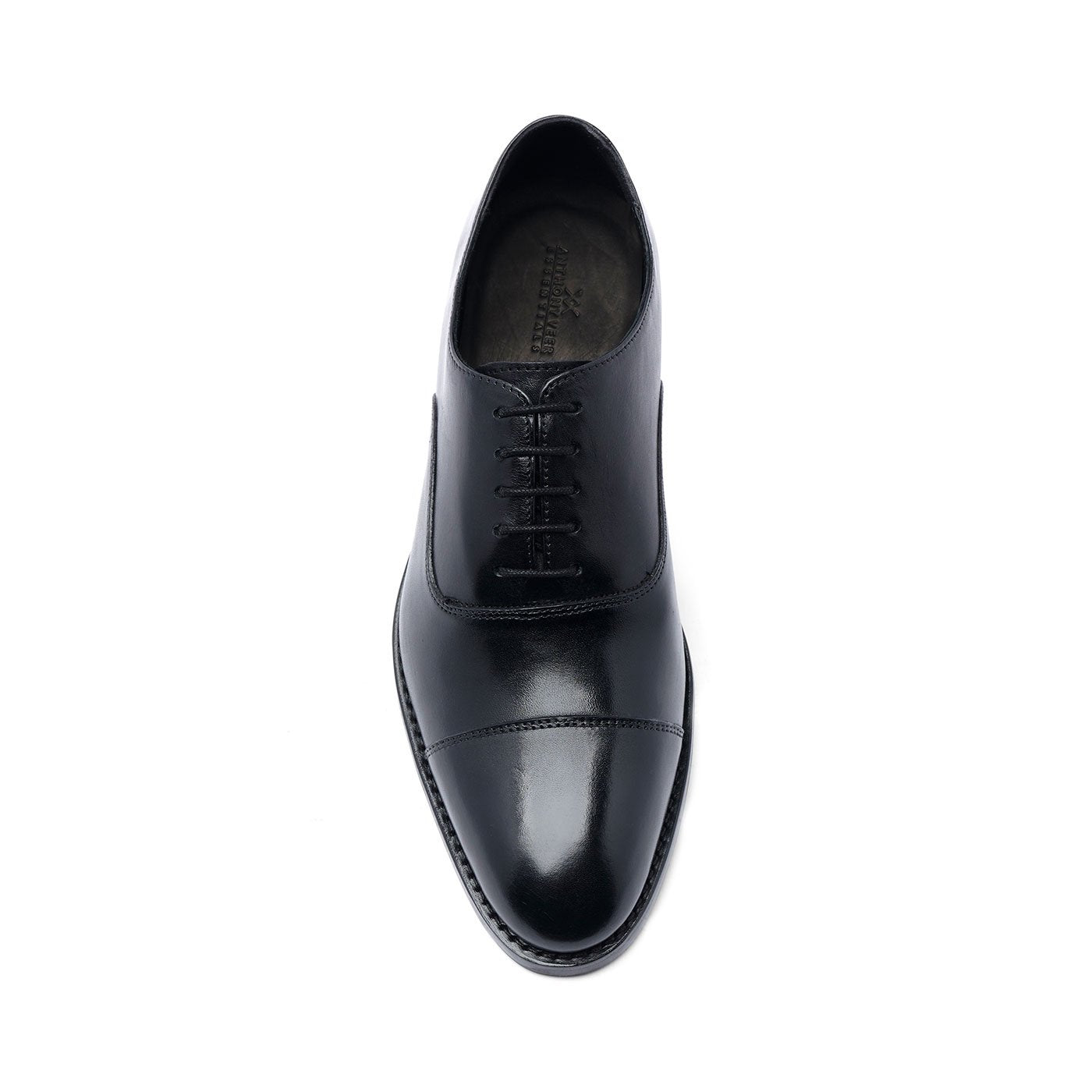 Clinton Cap Toe Oxford, Rubber Sole Black
