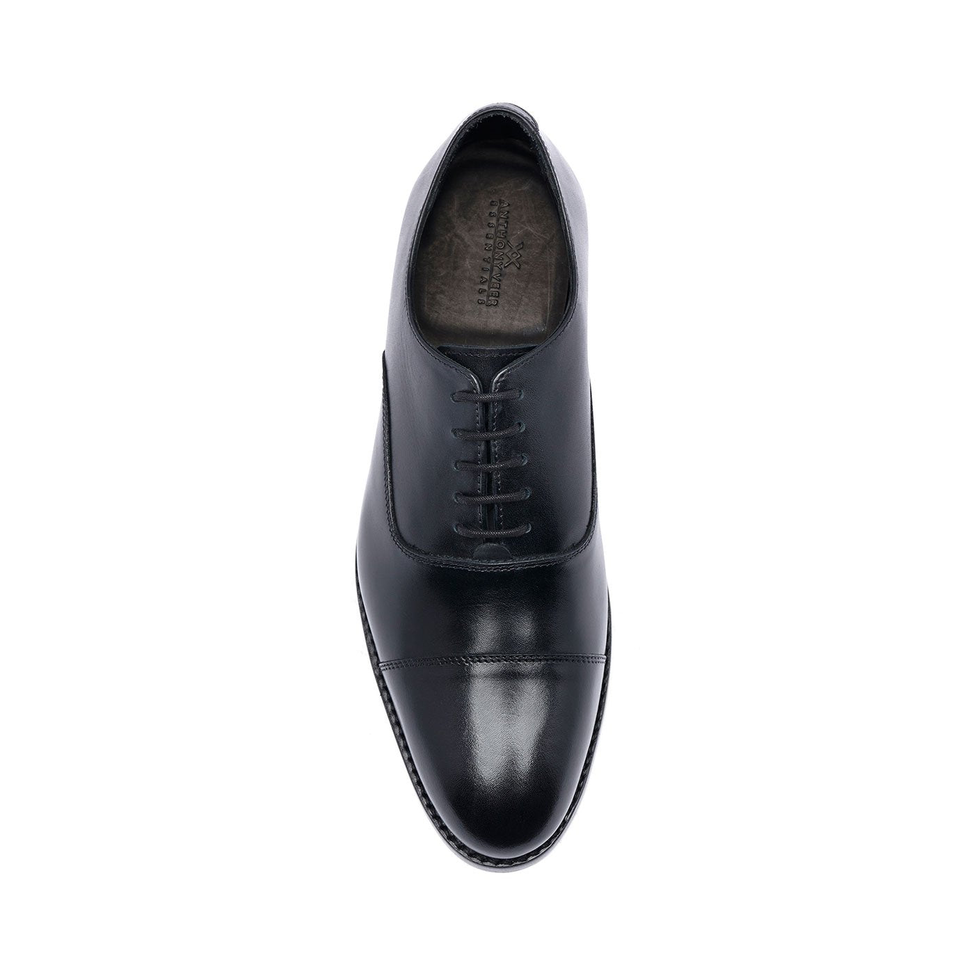 Clinton Cap-toe Oxford Black