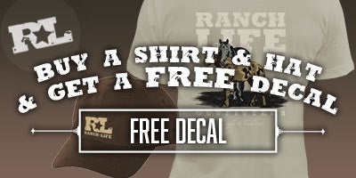 BUY A SHIRT AND A HAT GET A FREE DECAL