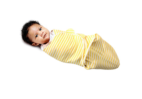 Baby Swaddled in Yellow
