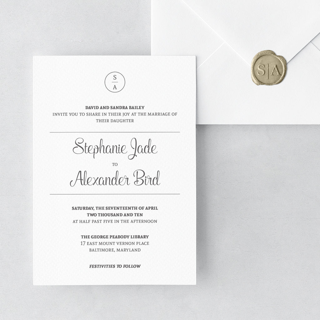 Modern Wedding Invitations Invitation Shoppe