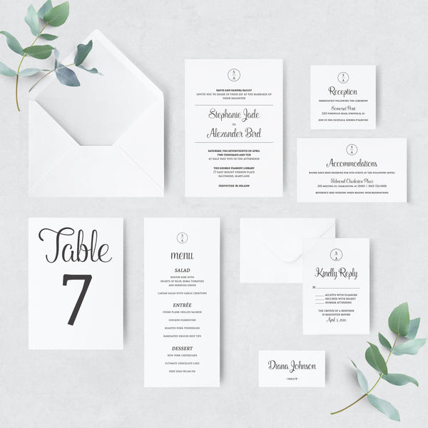 Invitation Shoppe Modern Suite
