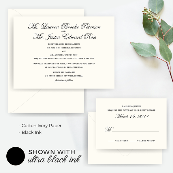 Invitation Shoppe Timeless Set