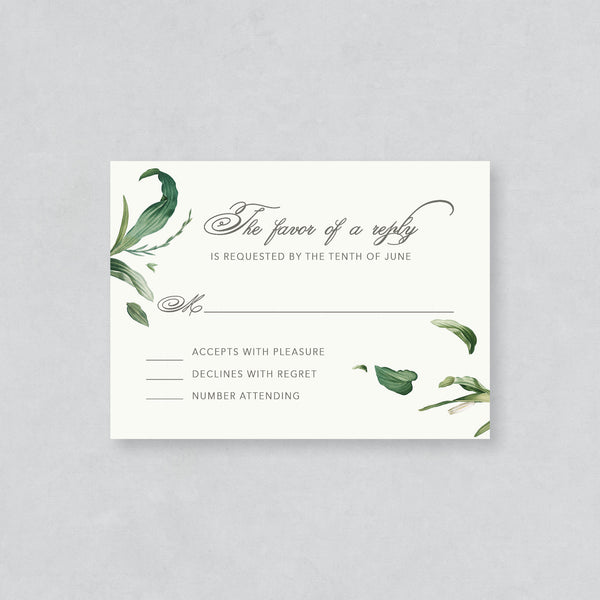 Invitation Shoppe Lovely Floral RSVP