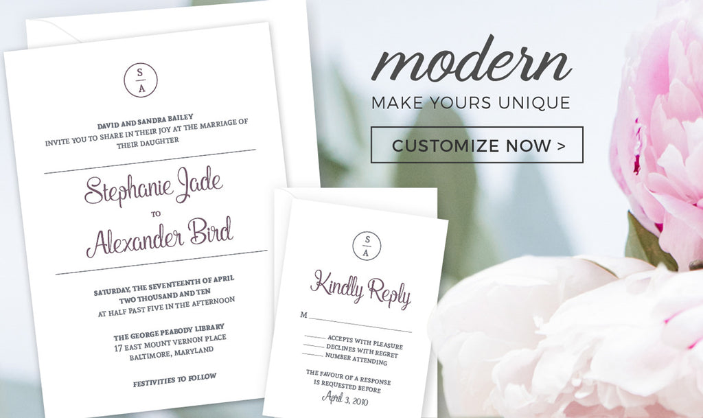 Invitation Shoppe - Modern Design