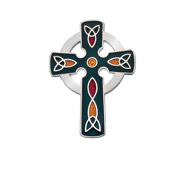 Enamel Celtic Cross Pin