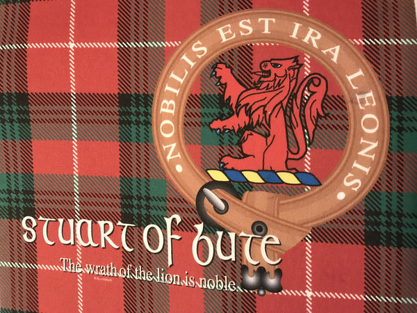 Stuart of bute T-shirt -   clan Flag