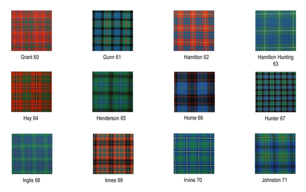 Tartan Scarf - Ancient Colors A-L
