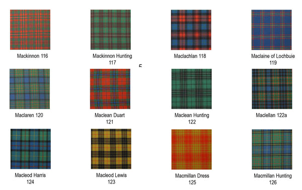 Tartan Scarf - Ancient Colors M-N