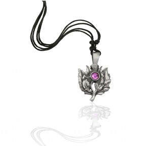 Pewter Scottish Thistle Pendant